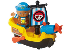 Vtech 80-178804 Kleine Entdeckerbande - Pirat Nico mit Boot
