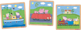 Simba Peppa Pig, Einlegepuzzle, 3-sortiert.