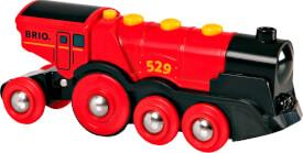 BRIO 33592000 Rote Lola Batterielok, Holz und Kunststoff, ab 36 Monate - 8 Jahre, rot