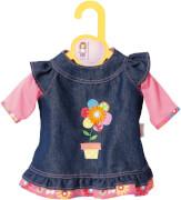 Zapf BABY born® Kleider Kollektion Dolly Moda Jeanskleid, Größe 38-46cm, ab 3 Jahren