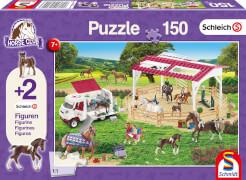 Schmidt Puzzle 5624 Schleich Reitschule und Tierärztin, 150 Teile, ab 7 Jahre