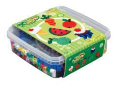 HAMA 8574 Bügelperlen Maxi - Essensbox - 1 Stiftplatte Kreis, 600 Perlen, ab 3 Jahren