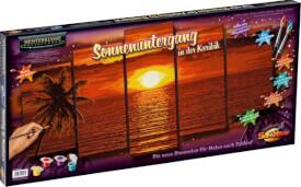Schipper Malen nach Zahlen - Sonnenuntergang in der Karibik (Polyptychon) 132 x