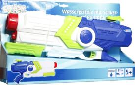 Splash & Fun Wasserpistole mit Pumpfunktion, Volumen 2000 ml, Reichweite 11 m, ca. 46x10x23 cm