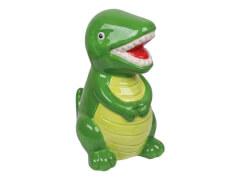 Keramikspardose grüner Dino