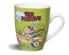 NICI Tasse ''THINK POSITIVE!'' Porzellan